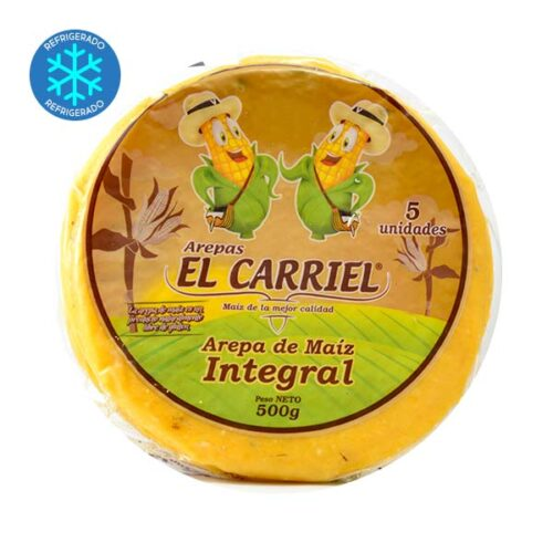 arepas de maiz integral El Carriel